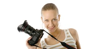 Mädchenphotograph Lizenzfreies Stockfoto
