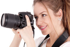 Mädchenphotograph Lizenzfreie Stockfotografie