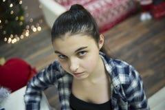 Mädchenporträtabschluß stockfotografie