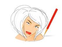 Mädchenportrait vektor abbildung