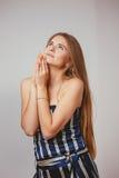 Mädchenportrait im Studio Lizenzfreie Stockfotos