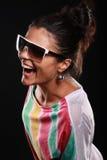 Mädchenportrait im Studio lizenzfreies stockbild
