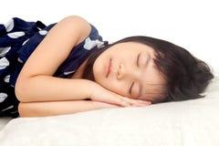 Mädchenschlafen Stockfotografie