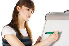 Mädchenschreiben lizenzfreie stockfotografie