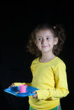 Mädchenspielen Stockbilder