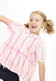 Mädchenspielen lizenzfreie stockbilder