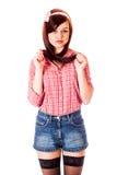 Mädchenstift-obenanreden Lizenzfreie Stockfotografie