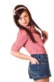 Mädchenstift-obenanreden Lizenzfreie Stockfotos