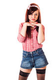 Mädchenstift-obenanreden Lizenzfreies Stockbild