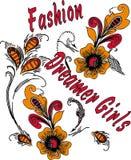 Mädchent-shirt Designe, abstrakter Hintergrund Lizenzfreies Stockbild