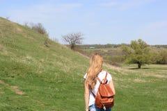 Mädchentourist Lizenzfreie Stockfotos