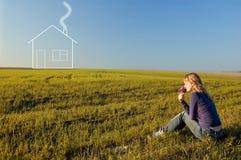 Mädchenträume des Hauses lizenzfreies stockbild