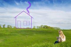 Mädchenträume des Hauses lizenzfreies stockfoto