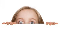 Mädchenverstecken Lizenzfreie Stockfotografie