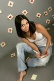 Mädchenwarteliebe Stockbilder
