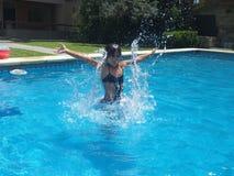 Mädchenwasser Lizenzfreies Stockfoto