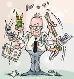 mäklareförhandlarechef stock illustrationer