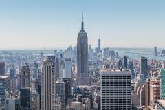 Mäktig sikt av Empire State Building och Lower Manhattan Royaltyfri Fotografi
