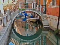 Mäktiga Arsenale i Venedig arkivbilder