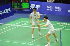 män 2011 för doubles för asia badmintonmästerskap s Arkivfoton
