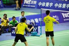 män 2011 för doubles för asia badmintonmästerskap s fotografering för bildbyråer