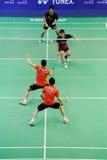 män 2011 för doubles för asia badmintonmästerskap s arkivbilder