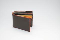 Män bryner plånboken Arkivbilder