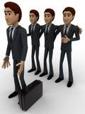 män 3d team den valda personen för arbetsbegrepp Fotografering för Bildbyråer