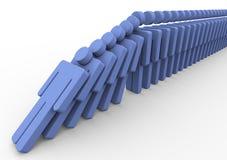 män för domino 3d stock illustrationer