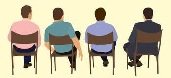 Män i ett möte Arkivfoto