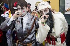 Män klädde Hitler och Bin Laden Royaltyfria Foton
