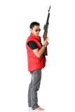 Män med geväret Arkivbild