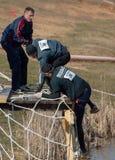 Män på den netto trappan Arkivfoton