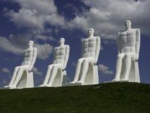 Män på havet, statygrupp som göras av Svend Wiig Hansen Arkivfoton
