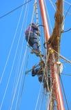 Män på masts Royaltyfria Foton