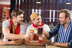 Män som rostar med öl Royaltyfri Fotografi