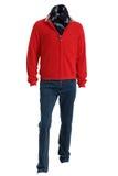 Män tröja och jeans royaltyfria foton
