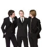 män tre royaltyfria bilder