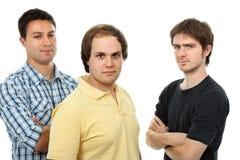 män tre royaltyfri foto