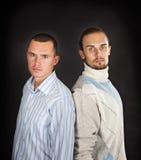 män två barn Arkivfoto