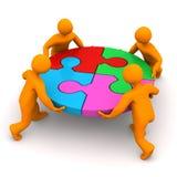 Männchen-Kreis-Puzzlespiel Stockfoto