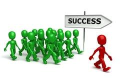 Männer 3d, die Erfolg anstreben Lizenzfreies Stockfoto