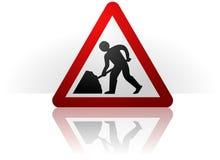 Männer am Arbeits-Symbol Lizenzfreie Stockbilder
