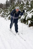 Männer auf dem Skifahren Lizenzfreie Stockfotografie