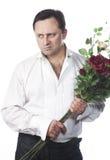 Männer auf einem weißen Hintergrund Stockfotografie