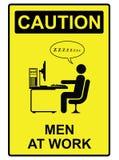 Männer bei der Arbeit lizenzfreie abbildung