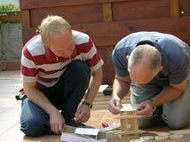 Männer bei der Arbeit DIY Lizenzfreies Stockfoto