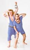 Männer in den Seemann-Kostümen lizenzfreies stockbild