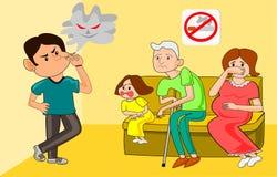 Männer, die öffentlich Bereiche rauchen vektor abbildung