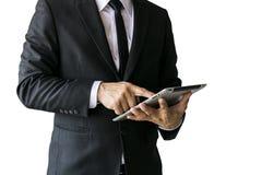 Männer, die einen schwarzen Anzug tragen lizenzfreies stockbild